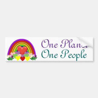 One Planet One People Car Bumper Sticker