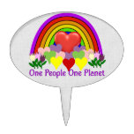 One Planet One People Cake Topper