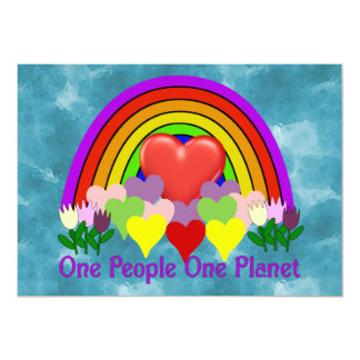 One Planet One People 5x7 Paper Invitation Card