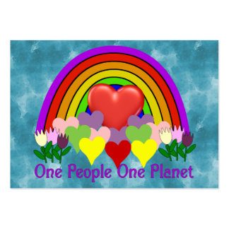One Planet One People Large Business Card