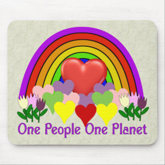 One Planet One People Mouse Pad