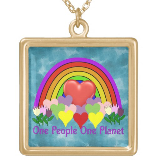 One Planet One People Necklaces