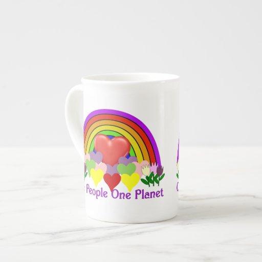 One Planet One People Bone China Mug