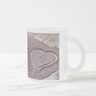 One Plus One Equals Love Frosted Glass Coffee Mug