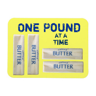 One Pound at a Time Magnet