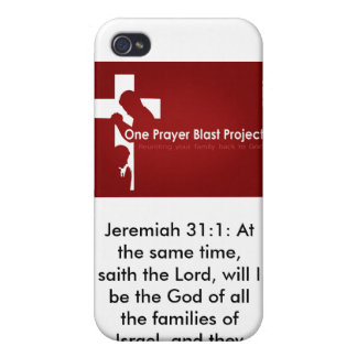 one prayer_large, Jeremiah 31:1: At the same ti... iPhone 4 Cover