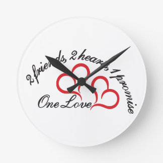 One Promise Round Wall Clock