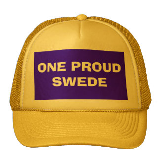 ONE PROUD SWEDE TRUCKER HAT