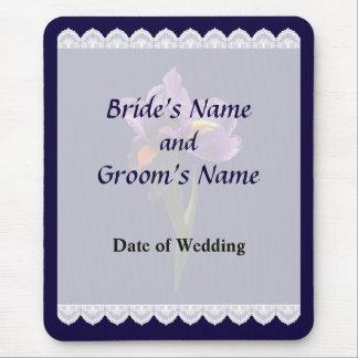 One Purple Iris Wedding Favors Mouse Pad