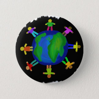 One Race - Anti Racism Pinback Button