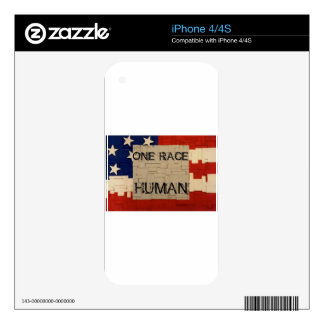 One Race Human iPhone 4 Decal
