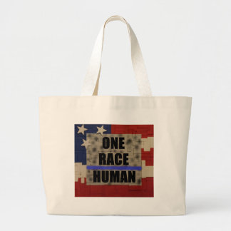 One Race-Human Large Tote Bag