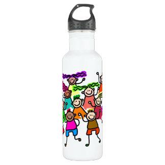 One Race: Human Stainless Steel Water Bottle