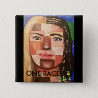One Race Pinback Button