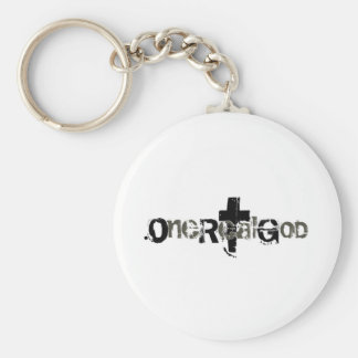 One Real God Keychain
