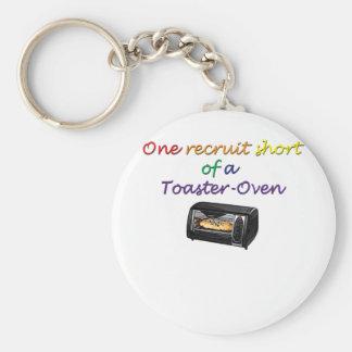 one-recruit basic round button keychain