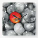 One Red Apple Wall Clock
