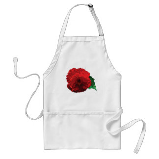 One Red Poppy Adult Apron