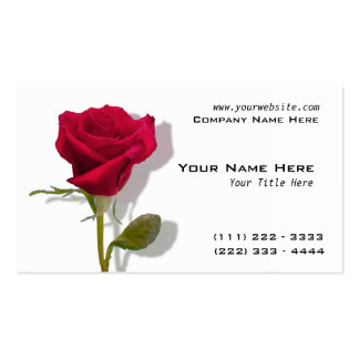 One Red Rose Business Card Templates