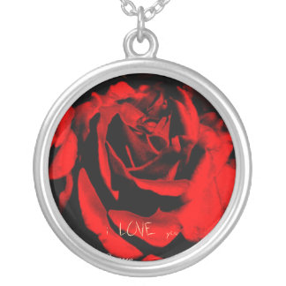 One Red Rose Pendant