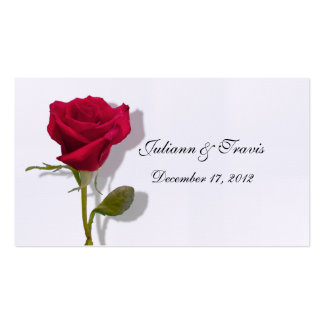 One Red Rose Place Card Business Card