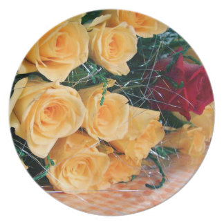 One Red Rose Plate