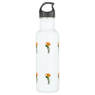 One Red-Tipped Yellow Carnation Water Bottle