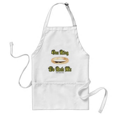 One Ring to Rule Me Adult Apron