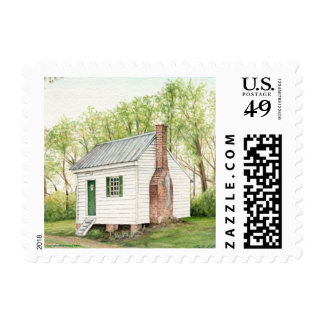 One Room House Stamp
