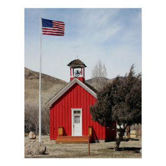 One-Room Red Schoolhouse, Wellington, Nevada Poster