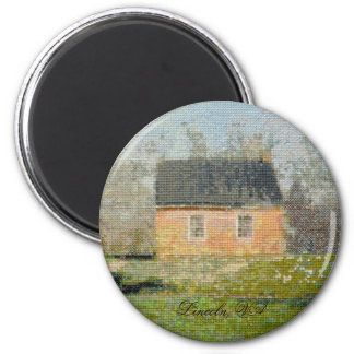 One-room Schoolhouse 2 Inch Round Magnet