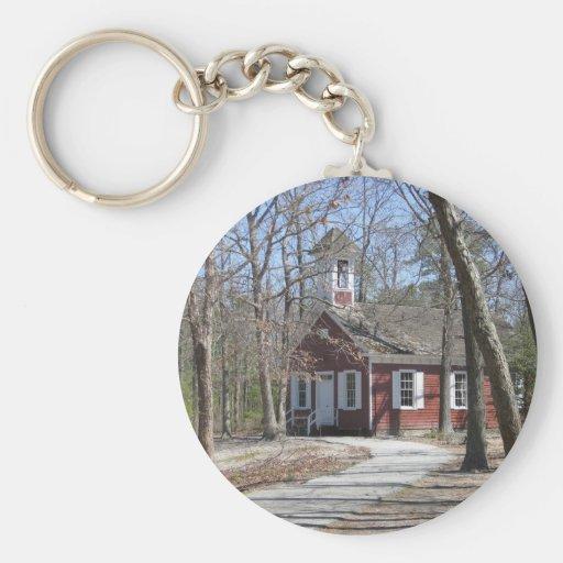 One Room Schoolhouse Basic Round Button Keychain