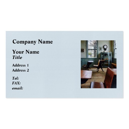 One Room Schoolhouse Business Card
