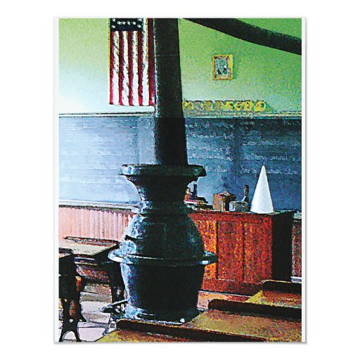 One Room Schoolhouse 4.25x5.5 Paper Invitation Card