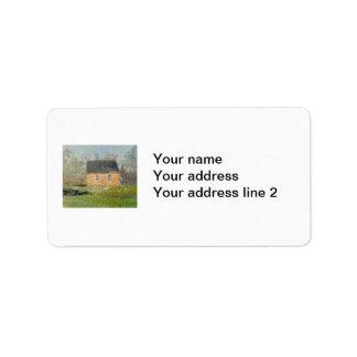 One-room Schoolhouse Address Label
