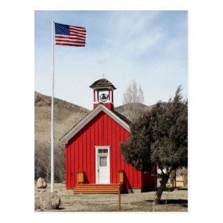 One-Room Schoolhouse, Wellington, Nevada Postcard