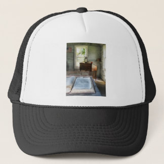 One Room Schoolhouse with Book Trucker Hat