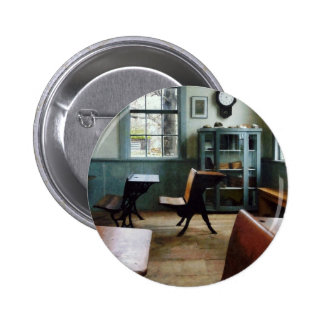 One Room Schoolhouse With Clock 2 Inch Round Button