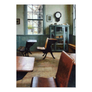 One Room Schoolhouse With Clock Card