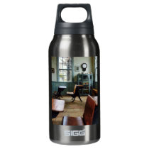 One Room Schoolhouse With Clock Insulated Water Bottle