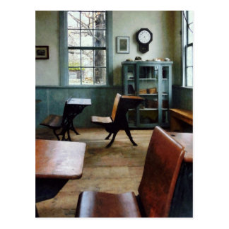 One Room Schoolhouse With Clock Postcard
