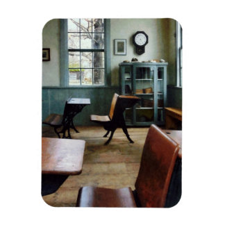 One Room Schoolhouse With Clock Vinyl Magnets