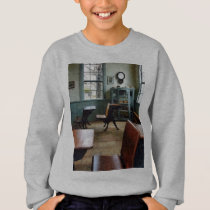 One Room Schoolhouse With Clock Sweatshirt
