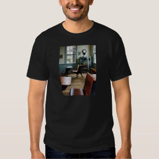 One Room Schoolhouse With Clock T-shirt