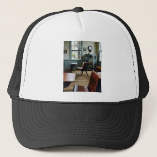 One Room Schoolhouse With Clock Trucker Hat