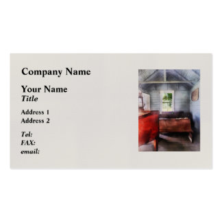 One Room Schoolhouse with Hurricane Lamp Double-Sided Standard Business Cards (Pack Of 100)