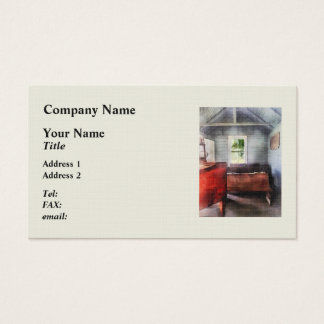 One Room Schoolhouse with Hurricane Lamp Business Card