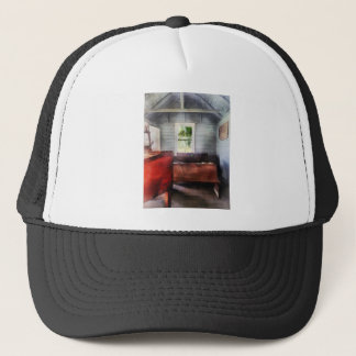 One Room Schoolhouse with Hurricane Lamp Trucker Hat