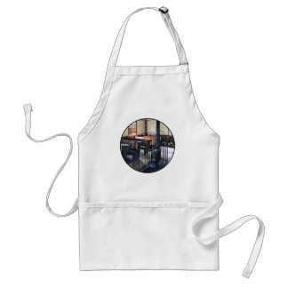 One Room Schoolhouse With Stove Adult Apron