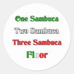 One Sambuca Classic Round Sticker